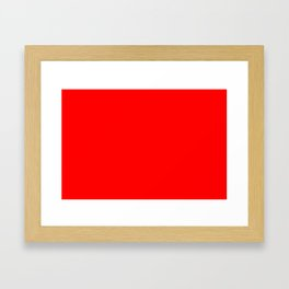 ff0000 Bright Red Framed Art Print