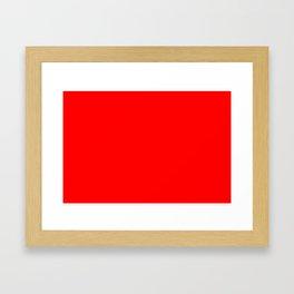 ff0000 Bright Red Framed Art Print