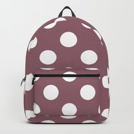 Raspberry glace - violet - White Polka Dots - Pois Pattern Backpack