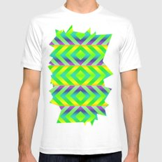 Green Mens Fitted Tee MEDIUM White