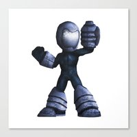 mega man Canvas Prints featuring Mega Man by kylecschaeffer