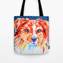 Hamish - Red Border Collie Tote Bag