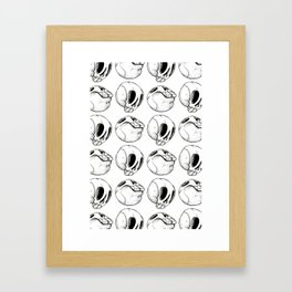 Having a ball with skulls! Framed Art Print