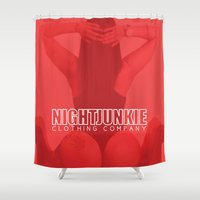 gucci Shower Curtains featuring NIGHTJUNKIE ELIZABETH/GUCCI by NIGHTJUNKIE