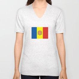 Andorra country flag Unisex V-Neck