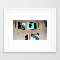records Framed Art Prints featuring Records by Donna Newsom of KarmaKazi Design