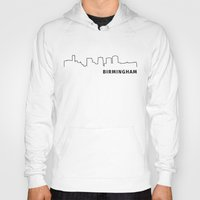 alabama Hoodies featuring Birmingham, Alabama by Fabian Bross