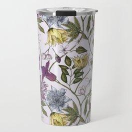 colorful floral pattern I Travel Mug