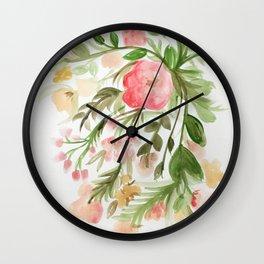 Watercolor Arrangement Wall Clock