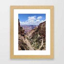 South Kaibab Trail at the Grand Canyon Framed Art Print
