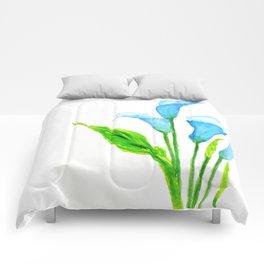 blue calla lily 2 Comforters