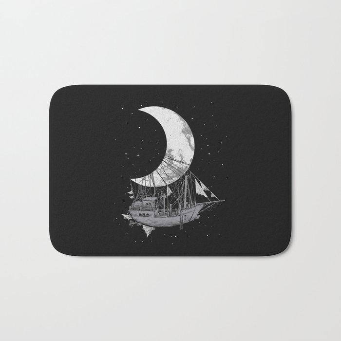 Moon Ship Bath Mat