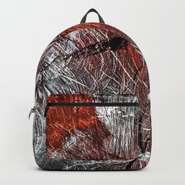 RED ARCHETYPAL STRUCTURES Backpack