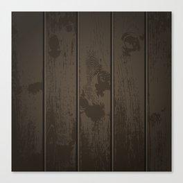 Dark Wood Fence Pattern Canvas Print