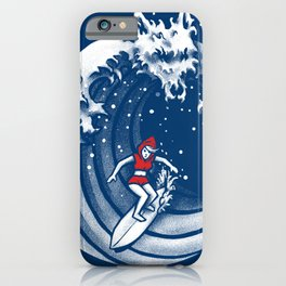Little Red Surfing Hood iPhone Case