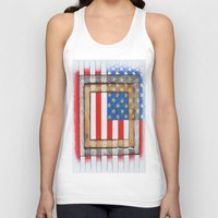 american flag Tank Tops featuring American Flag by Steve Hester