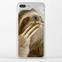 Philosophy Sloth Clear iPhone Case