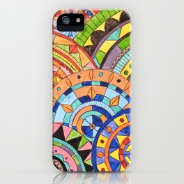 Overlay mandala  iPhone Case