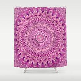 Pink flower mandala Shower Curtain