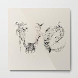 Ve - Meaw Metal Print