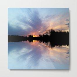 Sunset Brushstrokes Metal Print