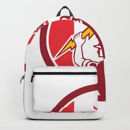 Canadian Electrician Lighting Bolt Canada Flag Icon Backpack