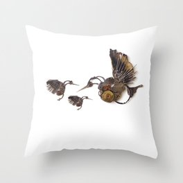 Rad's Hummingbirds Throw Pillow