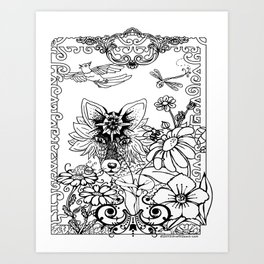 Garden Series Adult Coloring Art Print