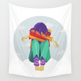 don't be sad baby Wall Tapestry