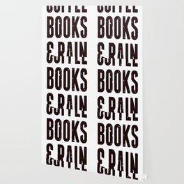 COFFEE BOOKS _ RAIN (VINTAGE) T-SHIRT Wallpaper