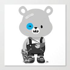 Bruised Bear Canvas Print