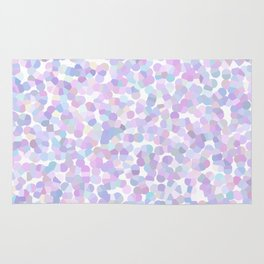 Geometric abstract lavender texture Rug