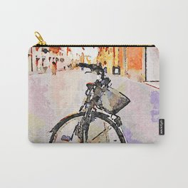 Teramo: parked bicycle on the course Carry-All Pouch