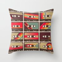 Mixed Tapes Throw Pillow