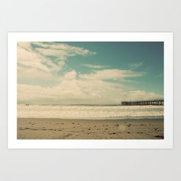 Cayucos Boardwalk Art Print