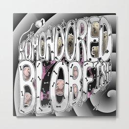 Komondored Blobfish Logo Metal Print