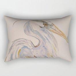 Peaceful Heron Rectangular Pillow