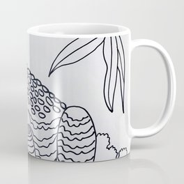 Bumpy Toad Black and White Coffee Mug