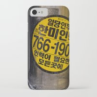 korea iPhone & iPod Cases featuring While in Korea by Dominic Valerius
