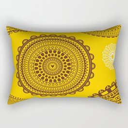 Yellow! Boho style pattern in bright warm tones. Rectangular Pillow