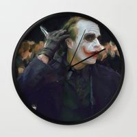 hello beautiful Wall Clocks featuring Hello Beautiful by  Maʁϟ
