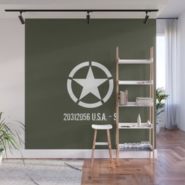 Vintage WWII ETO Star Wall Mural