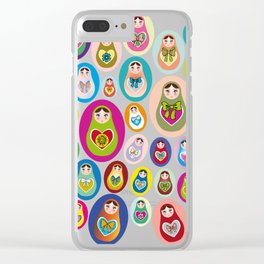 Russian matryoshka nesting doll Clear iPhone Case