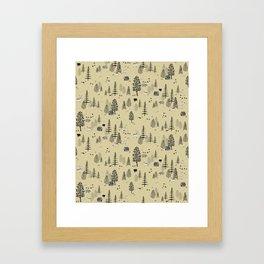Forrest Pattern Framed Art Print