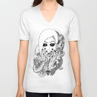 goth V-neck T-shirts featuring goth love by Jess John