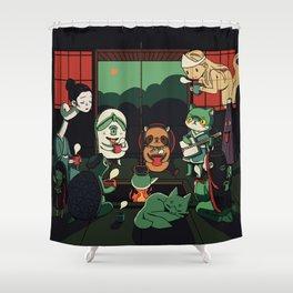 Yokai Tea Party Shower Curtain