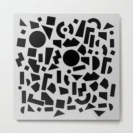 geometric black shapes Metal Print