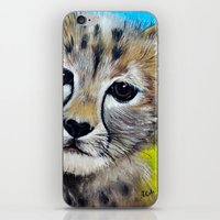 cheetah iPhone & iPod Skins featuring Cheetah by A Calcines