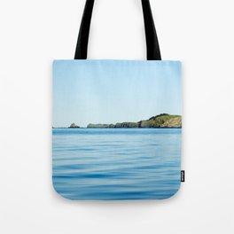 Island on the Horizon Photography Print Tote Bag
