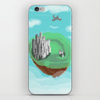 castle in the sky iPhone & iPod Skins featuring Sky Castle by wkdowd